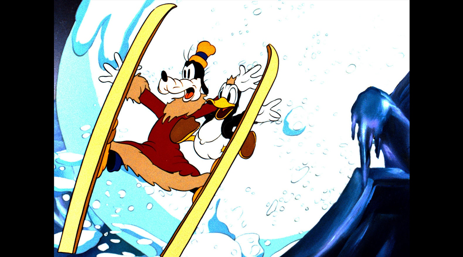 Donald and Goofy demonstrate how sometimes things snowball.