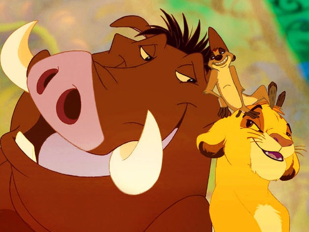 Timon and Pumbaa teach Simba about how to live life by their motto.