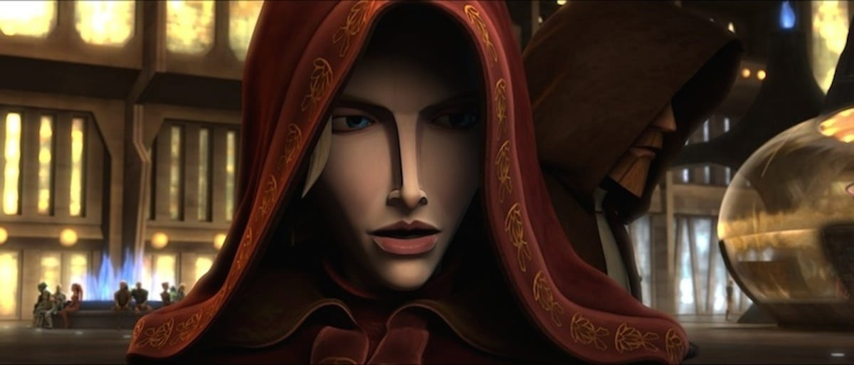 Duchess Satine secretly appearing on Coruscant