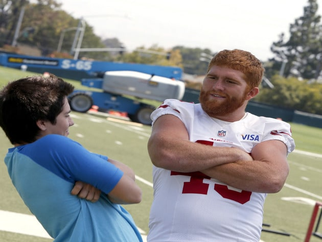 Bruce Miller goofing around with Billy