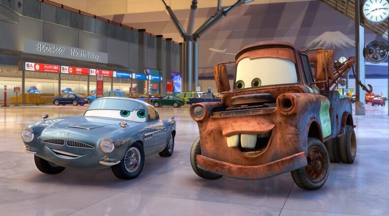"""Finn McMissile, British Intelligence."" ""Tow Mater, average intelligence."""