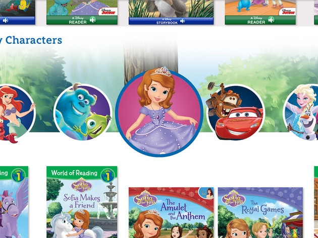 Browse by your favourite Disney characters to find books.