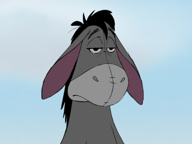 This is Eeyore's happy face.