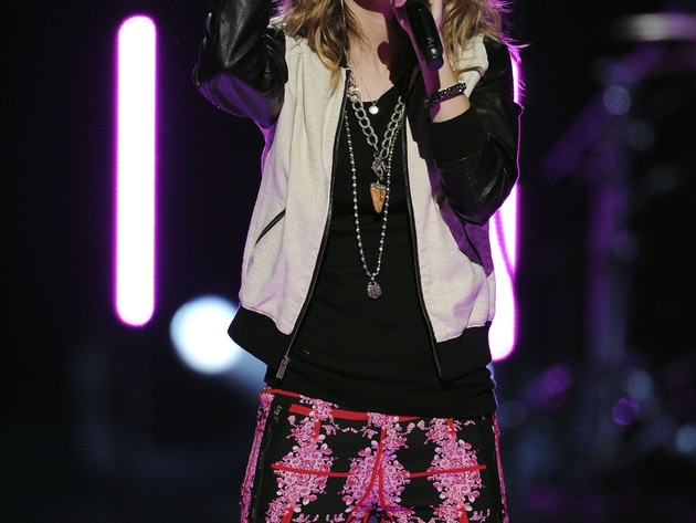 "Bridgit Mendler performed her hit ""Hurricane"" at the 2013 Radio Disney Music Awards"