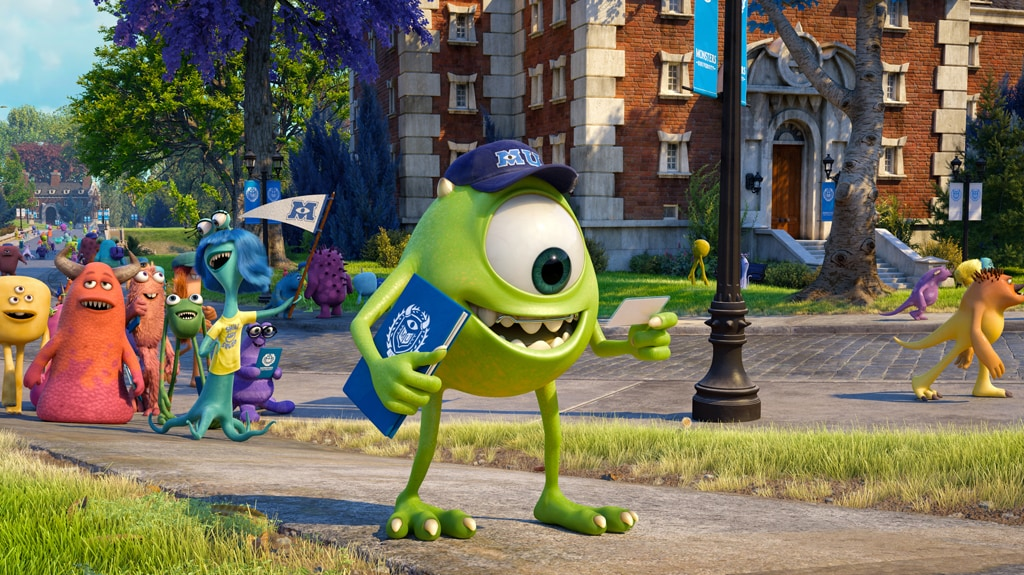 """Start of the freshman year for Mike from the movie """"Monsters University"""""""