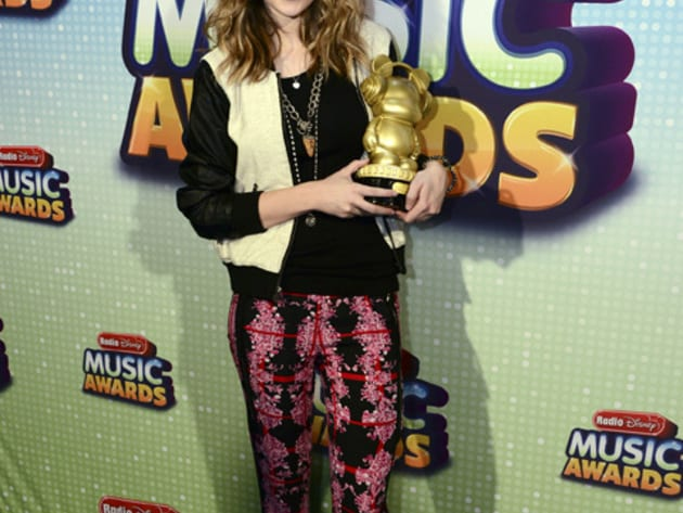 "Ready Or Not - Bridgit Mendler posing with her ARDY for her Best Acoustic Performance of ""Ready o..."