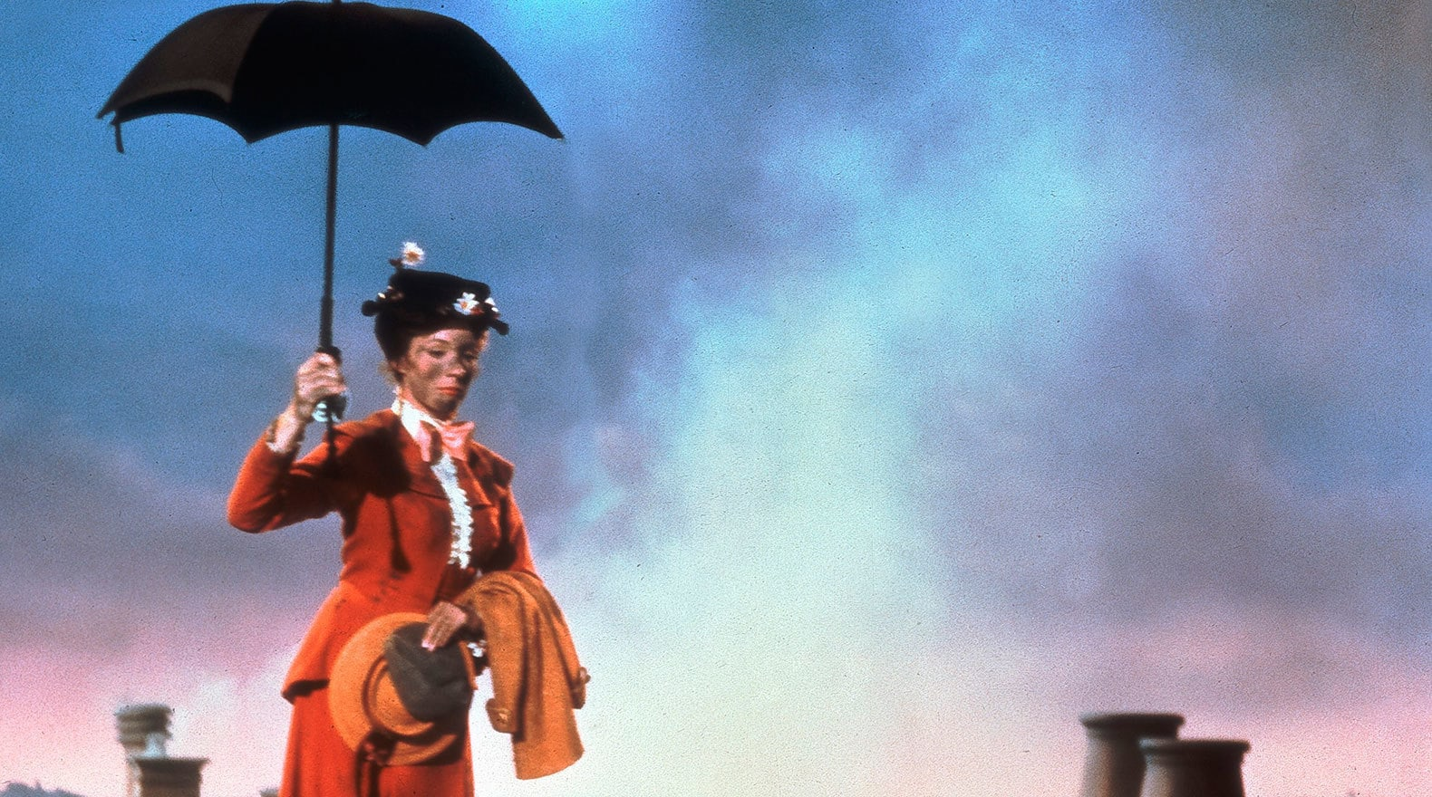 """Mary is properly dusted to meet the chimney sweeps in """"Mary Poppins"""""""