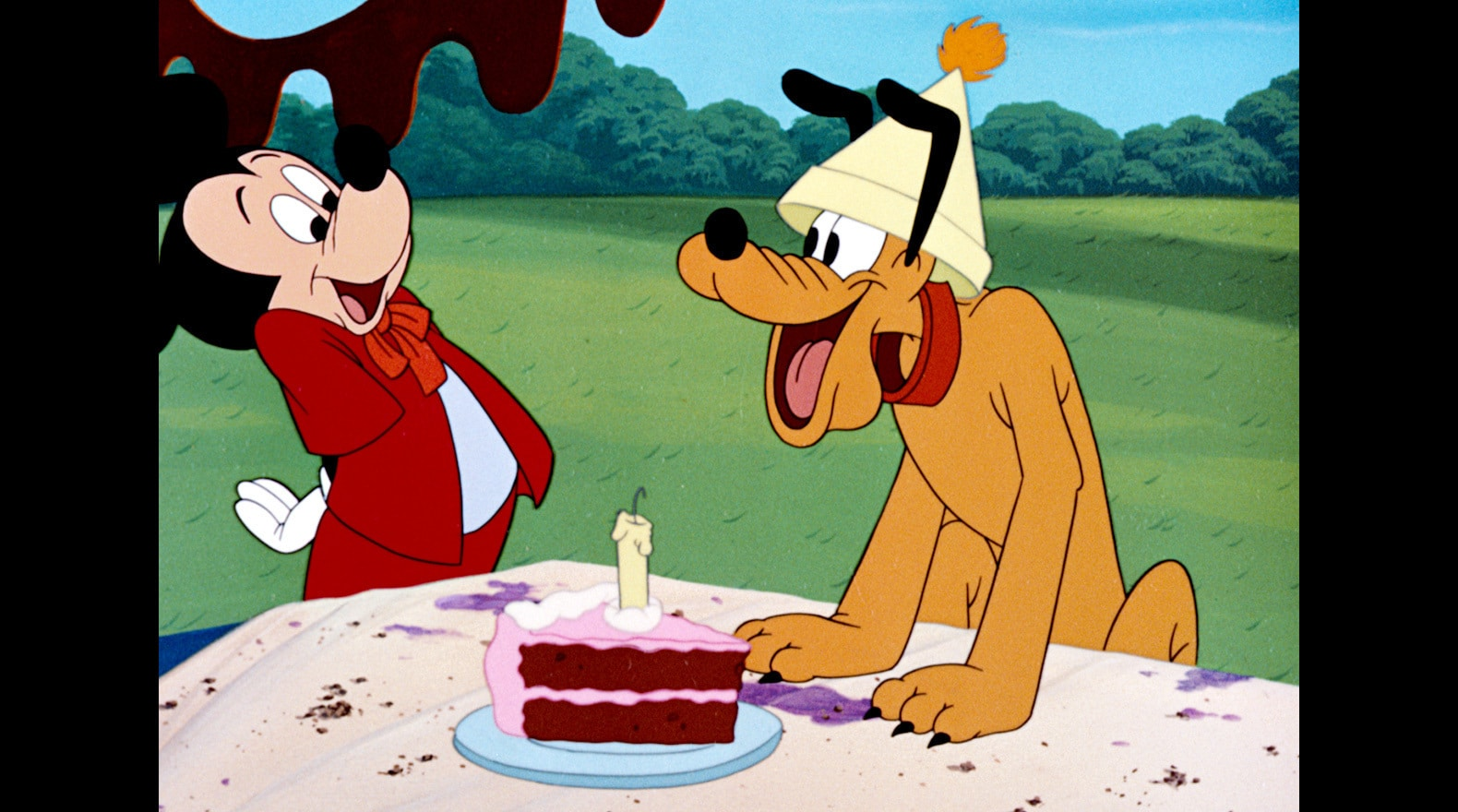 Even Pluto knows that party hats make a birthday extra special.