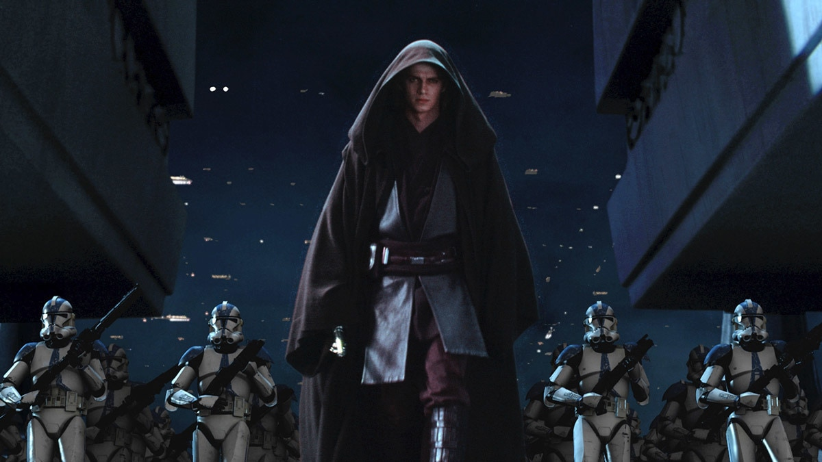 Anakin Skywalker and the 501st assaulting the Jedi Temple
