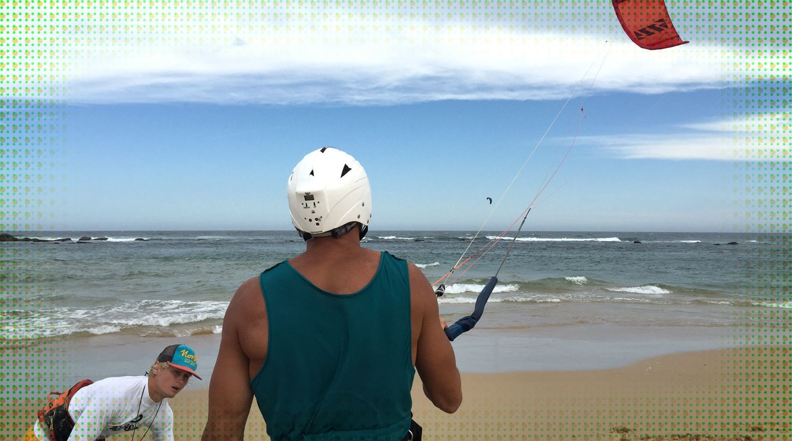 Courtney the Kite Surfing Pro...Well Kind of