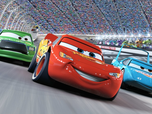 Lightning McQueen is pretty fast for a rookie racecar!