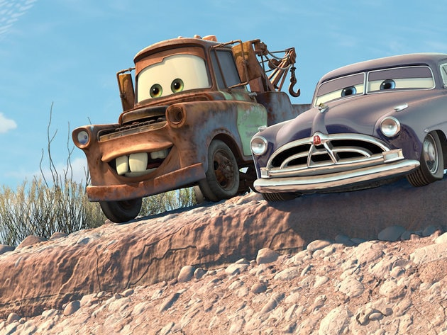 "Mater always has his tow-cable, just in case he needs to go ""fishin'."""