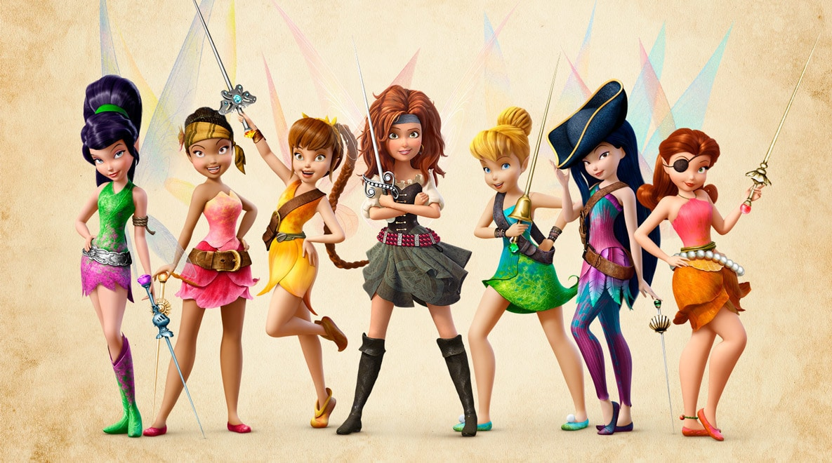 The fairies of Pixie Hollow, including the newest one: Zarina!