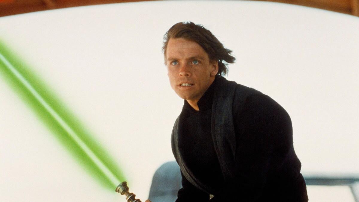 Luke Skywalker as a Jedi Knight on Jabba's Sail Barge