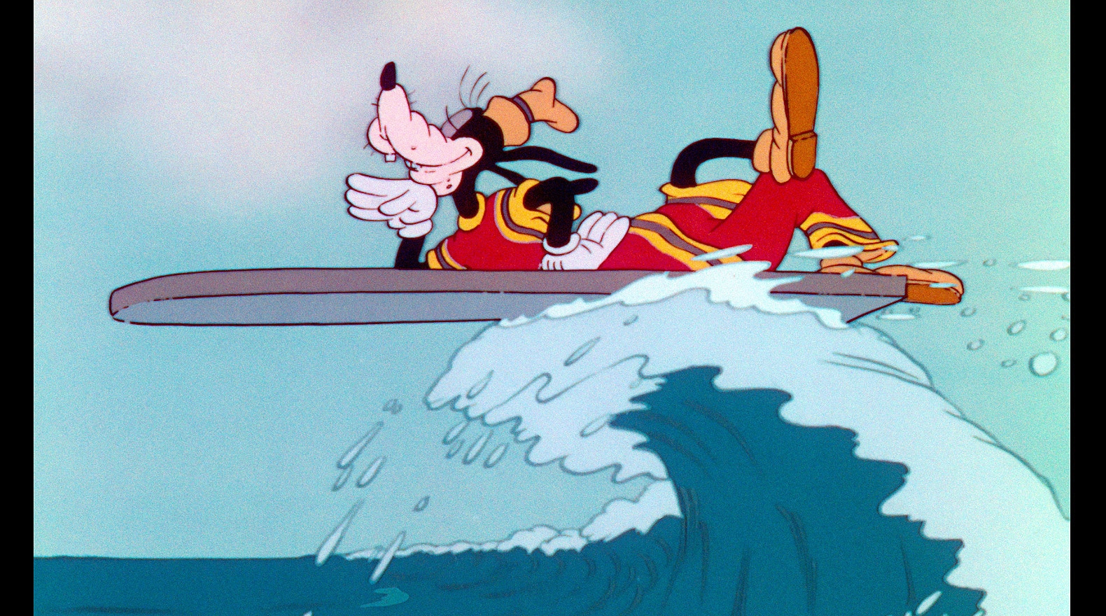 Goofy knows that sometimes you just have to ride the wave and see where you get.