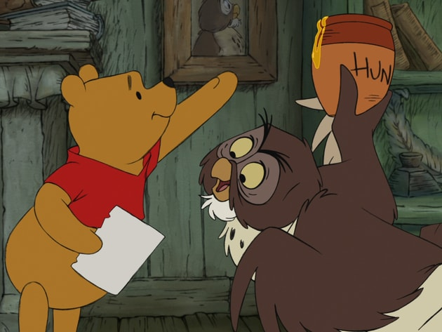 Pooh just needs a little smackerel of Owl's hunny.