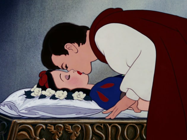 After the Prince's kiss, Snow White awakens again.