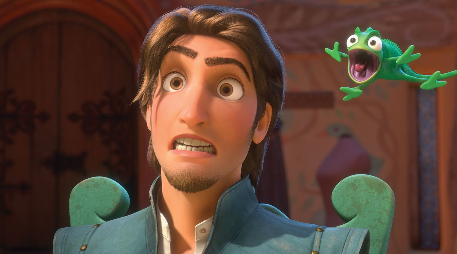 Flynn Rider voiced by Zachary Levi in the movie Tangled