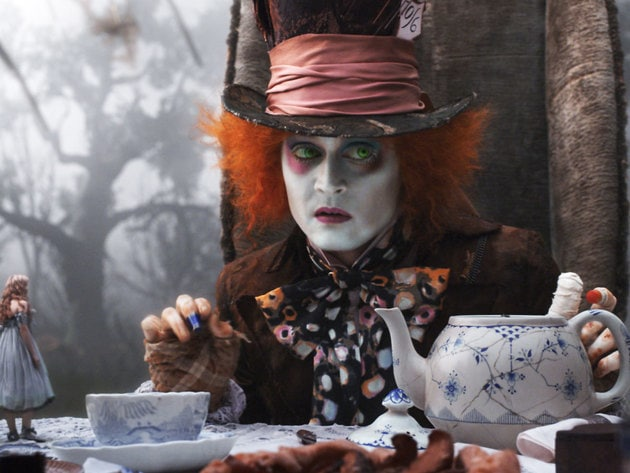 The Mad Hatter contemplates where to hide his guest from approaching danger.