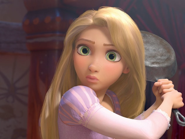 With her signature weapon in hand, Rapunzel realizes Flynn might be able to help her.