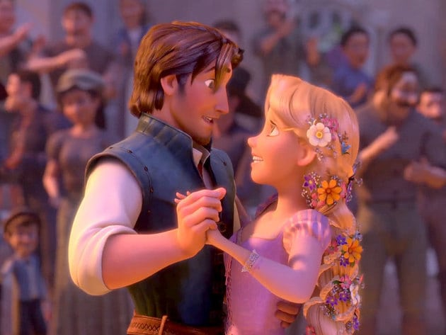 Rapunzel and Flynn Rider finally make it to town and take the square by storm (through dance).