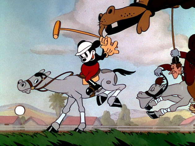 Mickey leads his friends in a game of polo.