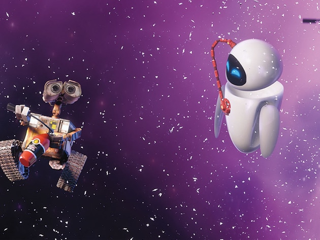 WALL•E figures out an ingenious way to navigate space.