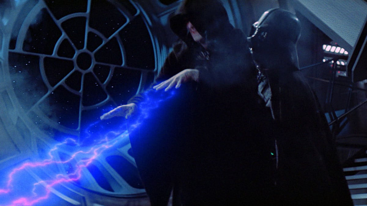 Darth Vader betraying Darth Sidious on the Death Star II