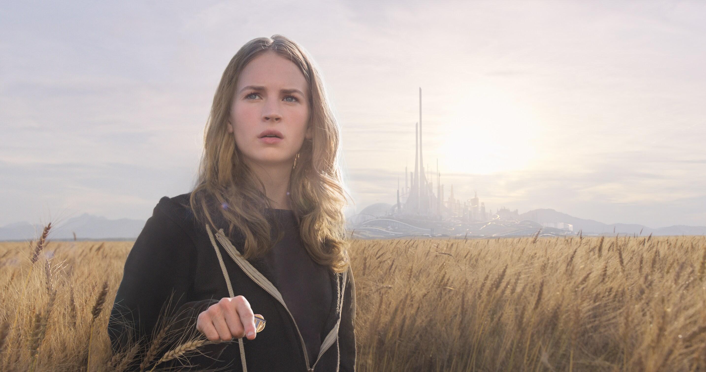 "Actress Britt Robertson in the movie ""Tomorrowland"""