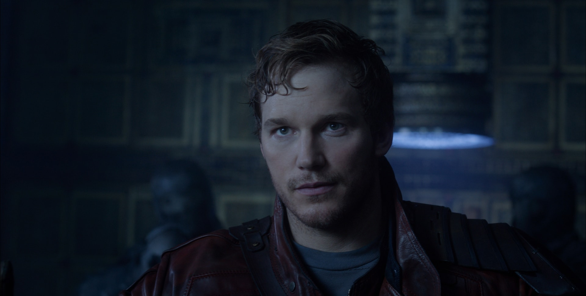 Chris Pratt as Starlord in Guardians of the Galaxy