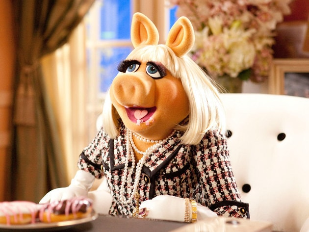 Miss Piggy means business when there are donuts involved.
