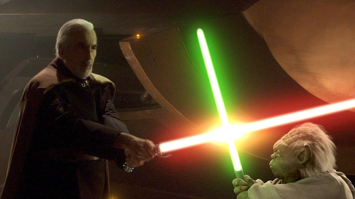 Count Dooku duels Yoda
