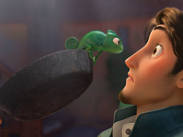 Pascal and Flynn Rider don't always see eye to eye.