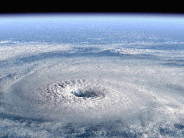 As hurricanes begin to form, you can see them developing from above.