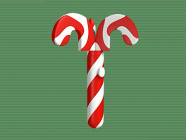The hard casing of the grappling hook is shaped and painted like a candy cane. Once the hidden st...