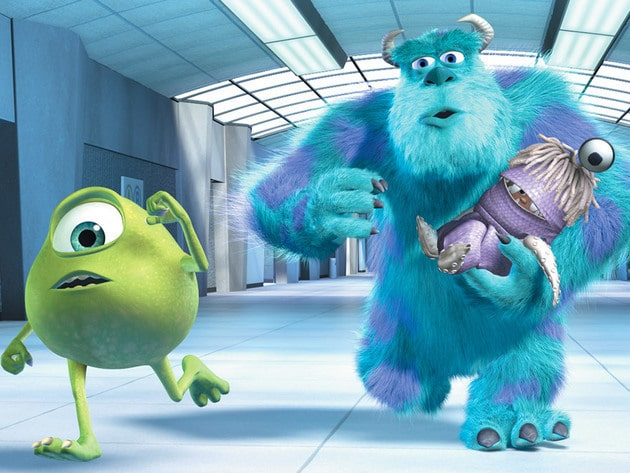 Mike and Sulley are on the hunt for Boo's door at Monsters, Inc.