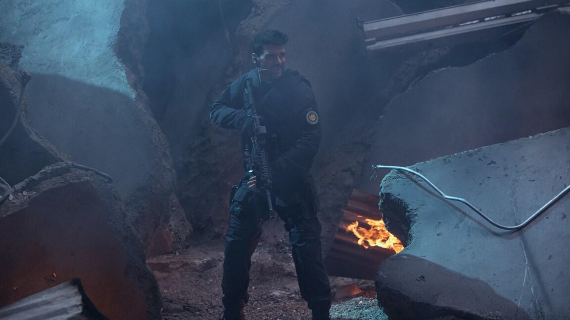 Actor Frank Grillo (Brock Rumlow) in Captain America: The Winter Soldier.