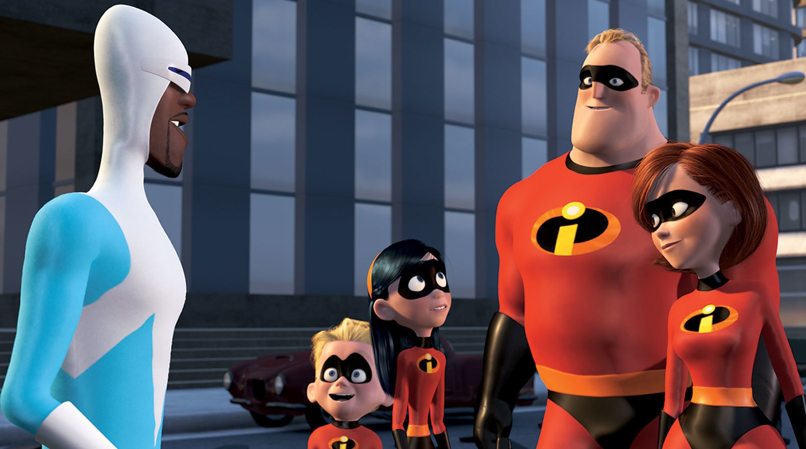 """Frozone and the Incredibles defeating the Omnidroid in """"The Incredibles"""""""