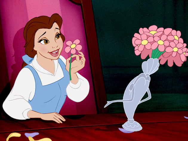 Like this flower, Belle and her beauty begin to bloom as she adventures.
