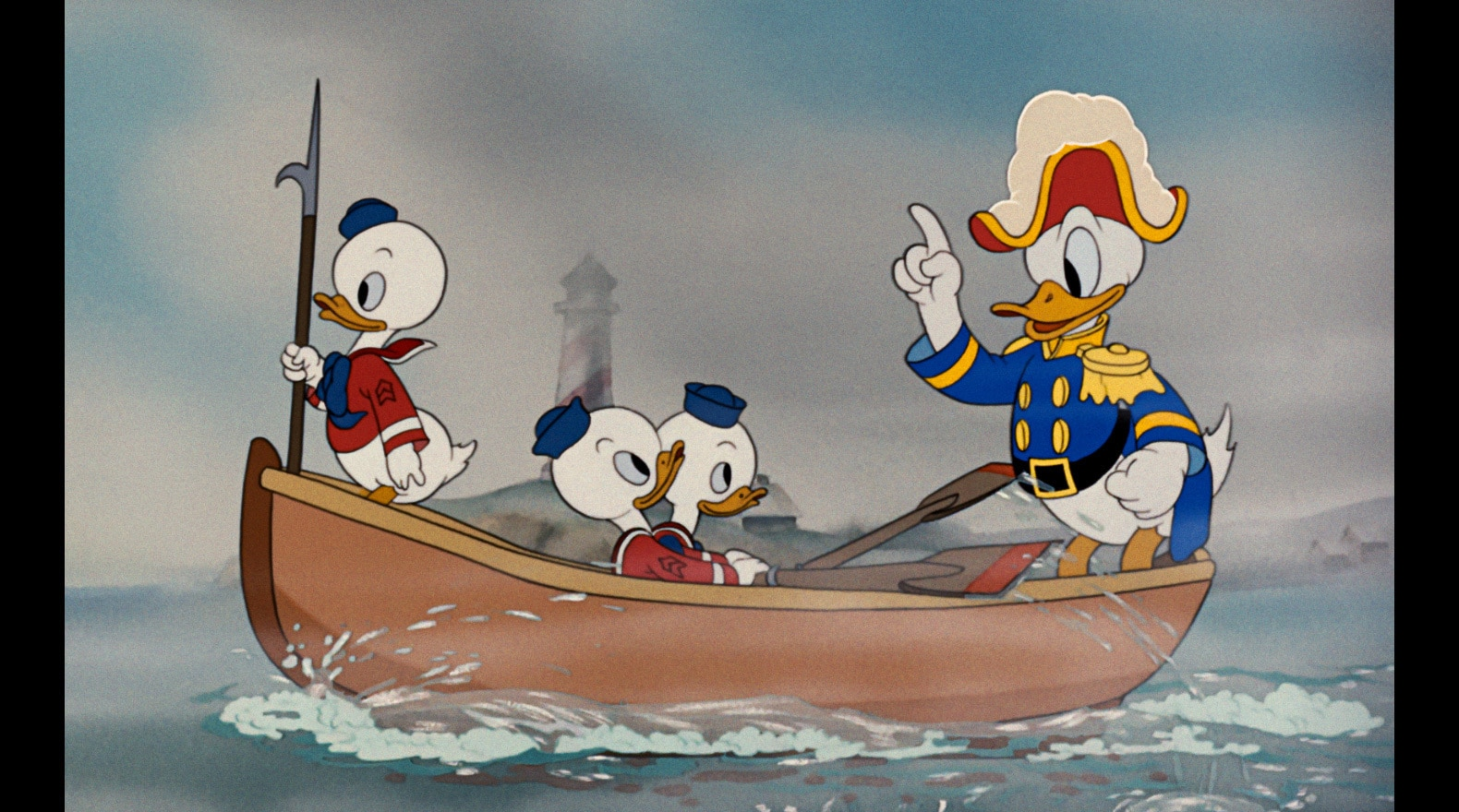 Donald plays captain and takes his nephews out for a day at sea.