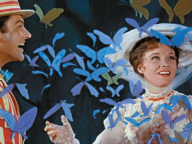 Mary Poppins and Bert are on a jolly holiday.