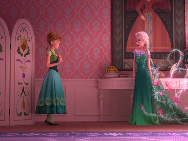 Elsa celebrates Anna's birthday by throwing a party full of surprises and presents, including sum...