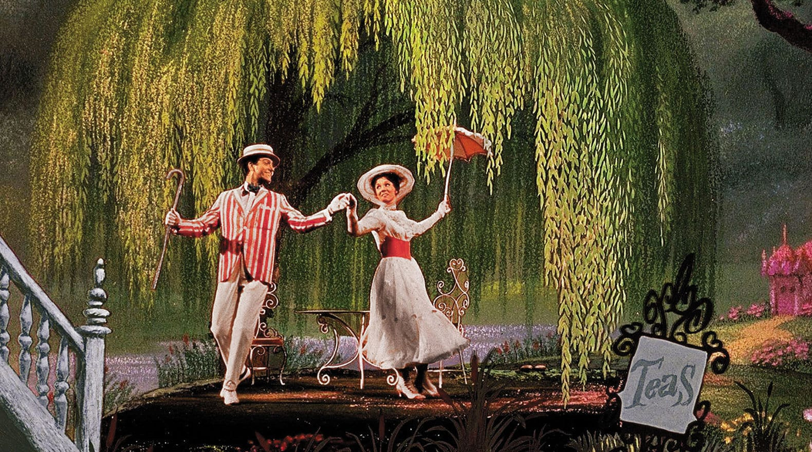 """Bert and Mary singing in """"Mary Poppins"""""""