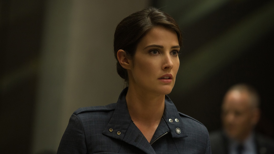 Actor Cobie Smulders (Maria Hill) in Captain America: The Winter Soldier.