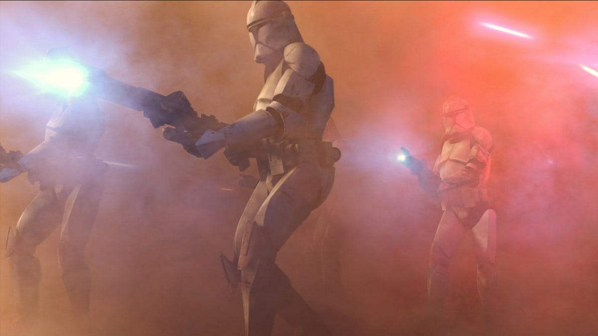 Clone Troopers during the Battle of Geonosis
