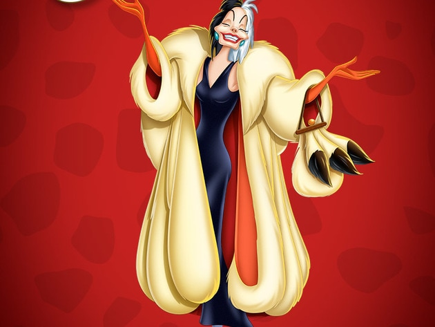 Meet Cruella De Vil - The iconic villainess is a wealthy, fashion-obsessed heiress.