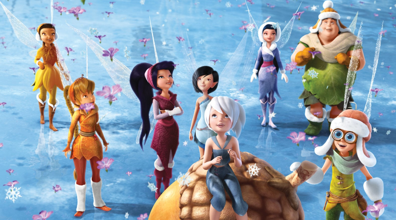 The Fairies celebrate with both flowers and snowflakes.