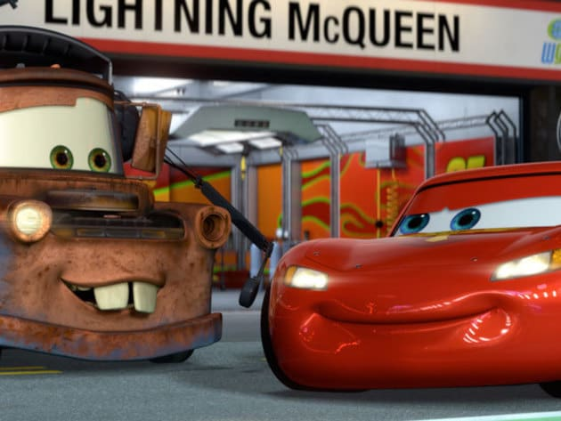 To Mater, Lightning isn't just a race car, he's a friend.