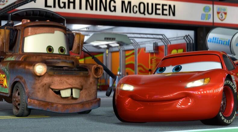 To Mater, Lightning isn't just a race car, he's a friend.