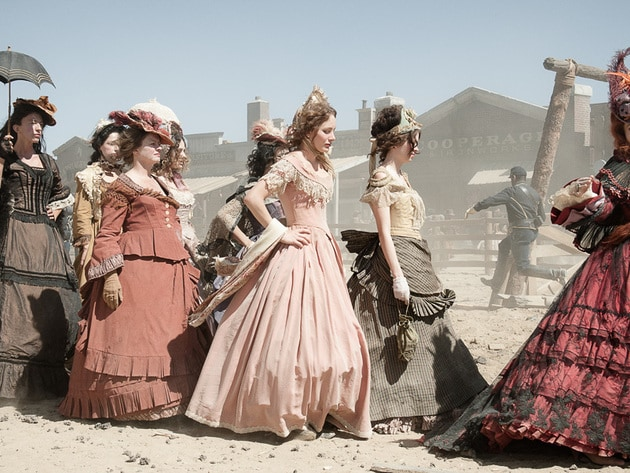 Red and her ladies join the railroad festivities.